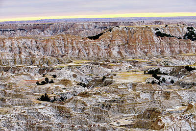 Photograph - The Badlands In Snow by Jim Thompson
