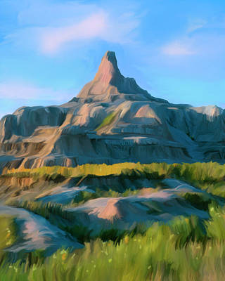 Photograph - The Badlands by Mark Miller