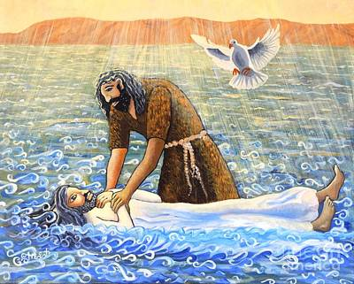 Painting - The Baptism Of Christ by Caroline Street