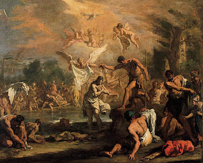 Painting - The Baptistm Of Christ  by Sebastiano Ricci