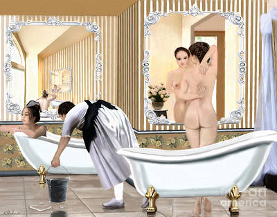 Painting - The Bath House by Debra Chmelina