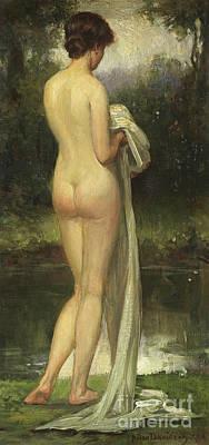 Painting - The Bather By Allan Douglas Davidson by Allan Douglas Davidson