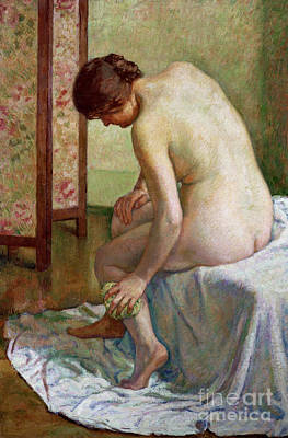 Painting - The Bather by Theo van Rysselberghe