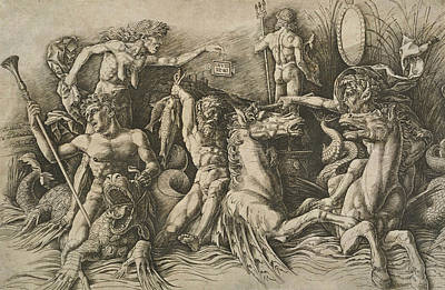 Relief - The Battle Of The Sea Gods by Andrea Mantegna