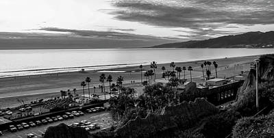 Photograph - The Bay At Dusk - B And W by Gene Parks