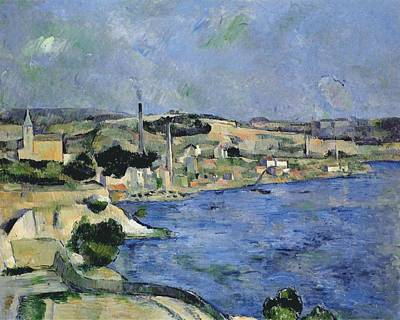 Abstract Male Faces - The Bay of L Estaque and Saint Henri 1877 79 by Paul Cezanne Paintings