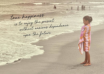 Photograph - The Beach Quote by Jamart Photography