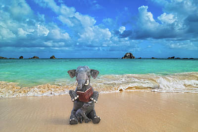 Surrealism Digital Art - The Beach Story by Betsy Knapp