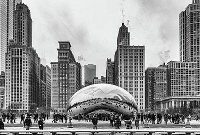 Photograph - The Bean Black And White by Framing Places