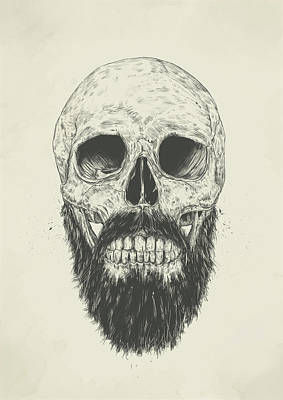 Ink Wall Art - Drawing - The Beard Is Not Dead by Balazs Solti