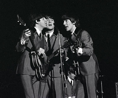 Photograph - The Beatles 1964 Us Tour. L-r Paul by Popperfoto