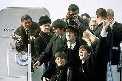 Photograph - The Beatles Are Coming by Michael Ochs Archives