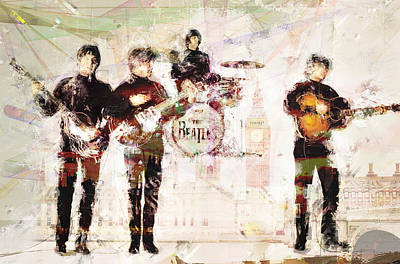 Mixed Media Royalty Free Images - The Beatles Royalty-Free Image by David Ridley