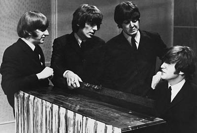 Photograph - The Beatles In Tv Studios At Manchester by Keystone-france