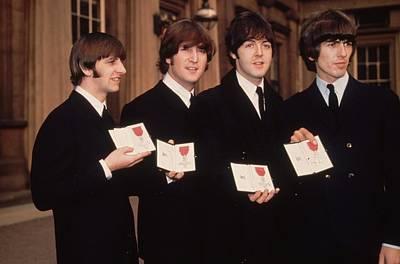 Beatles Photograph - The Beatles Mbe by Fox Photos