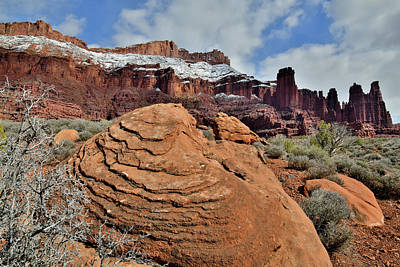 Photograph - The Beautiful Landscape Of Fisher Towers In Utah by Ray Mathis