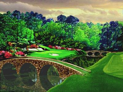 Golf Painting - The Beauty Of The Masters by Ron Chambers