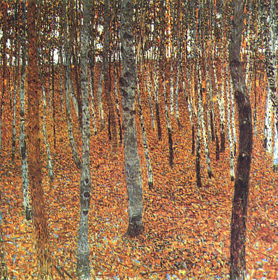 Painting - The Beech Forest  by Gustave Klimt