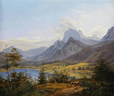 Painting - The Bergsee  by Johann Nepomuk Ott