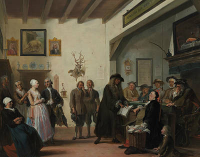 Painting - The Beslikt Zwaentje Or The Court In Puyterveen by Cornelis Troost
