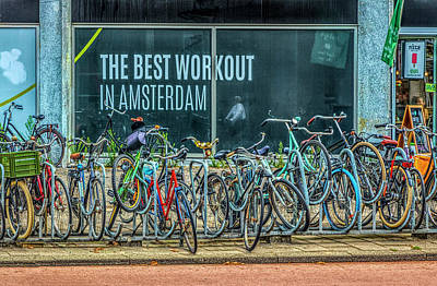 Photograph - The Best Workout In Amsterdam In Hdr Detail by Debra and Dave Vanderlaan
