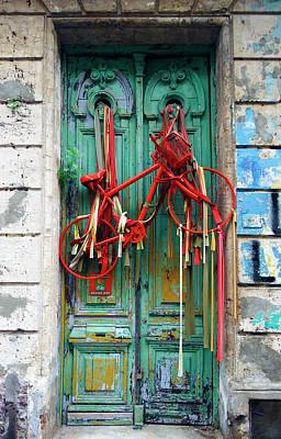 Photograph - The Bicycle Door, Montevideo, Uruguay by Kurt Van Wagner