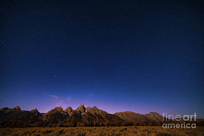 Photograph - The Big Dipper And The Teton Range by Doug Sturgess