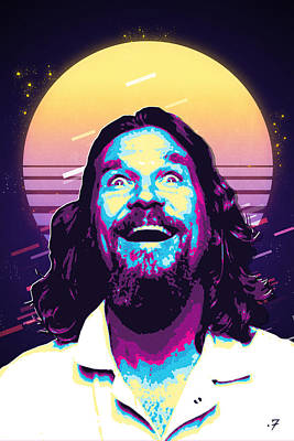 Digital Art - The Big Lebowski Revisited - The Dude No. 4 by Serge Averbukh