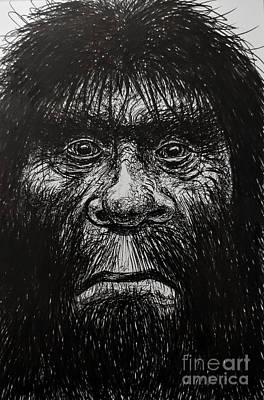 Drawing - The Big Man by Chris Mackie