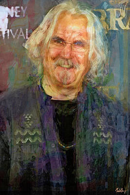 Celebrities Mixed Media - The Big Yin, Billy Connolly by Mal Bray