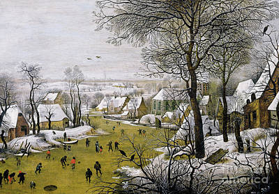 Painting - The Bird Trap  by Pieter the Younger Brueghel