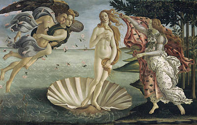 Painting - The Birth Of Venus By Sandro by Superstock