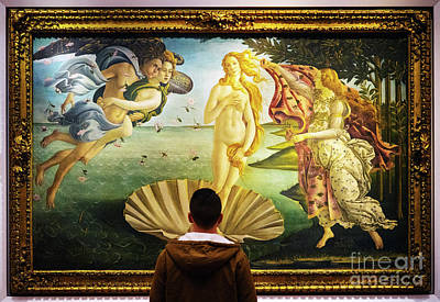 Photograph - The Birth Of Venus Sandro Botticelli Uffizi Gallery Florence Italy  by Wayne Moran
