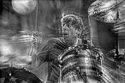 Musicians Royalty Free Images - The Black Keys Patrick Carney Musician Royalty-Free Image by Mal Bray