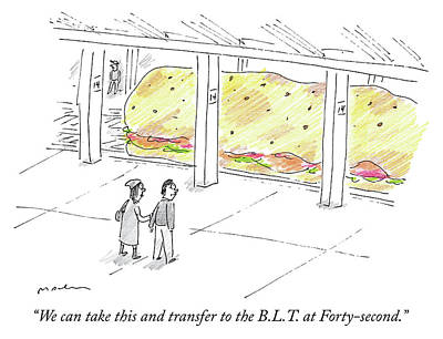 Drawing - The Blt At Forty Second by Michael Maslin