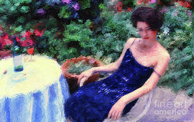 Digital Art - The Blue Dress by Jeff Breiman