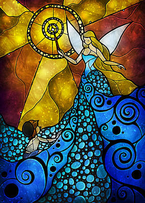 Digital Art - The Blue Fairy by Mandie Manzano