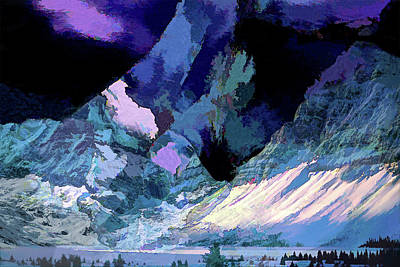 Digital Art - The Blue Mountains by Lisa Yount
