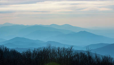 Photograph - The Blue Ridge Mountains At Sunset by Mark Duehmig