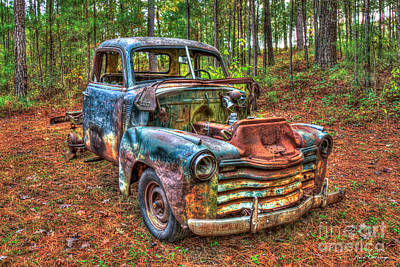 Photograph - The Blue Skeleton 1950 Ford F-1 Ford Pickup Truck Art by Reid Callaway
