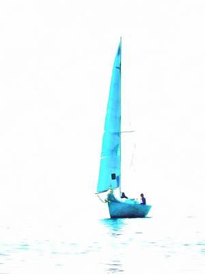 Photograph - The Blue Yacht by Dorothy Berry-Lound