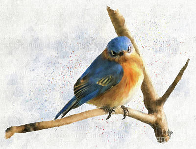 Digital Art - The Bluebird Of Unhappiness by Lois Bryan
