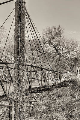Photograph - The Bluff Dale Bridge Black And White by JC Findley
