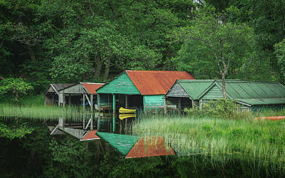 Photograph - The Boathouses by Raymond Carruthers