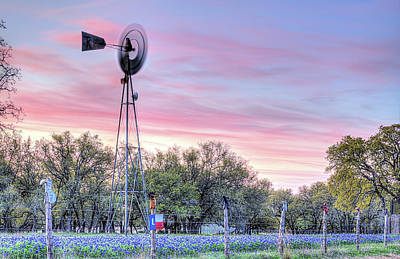 Photograph - The Boots And Windmill On Willow City Loop by JC Findley