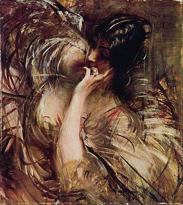 Beach House Signs - The Bouse of Voile by Giovanni Boldini