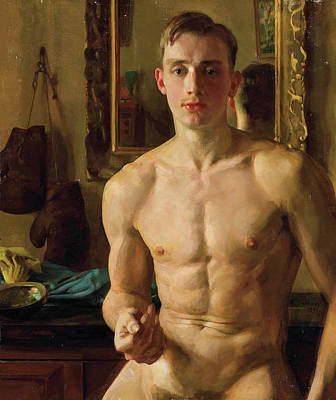 Painting - The Boxer  by Konstantin Somov