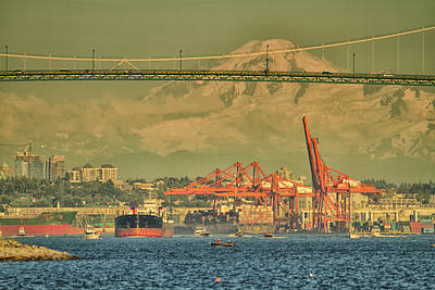 Photograph - The Bridge In English Bay by Tom Kelly