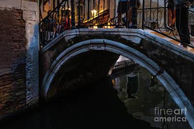 Photograph - The Bridges Of Venice At Night by Marina Usmanskaya