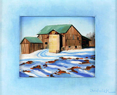 Painting - The Brydon's Barn by Phil Chadwick